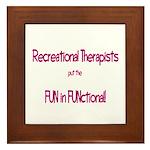 Recreational Therapist Framed Tile