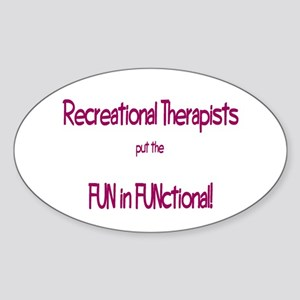 Recreational Therapist Oval Sticker