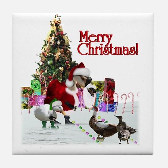 Funny Pet christmas Tile Coaster