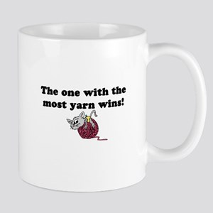 One With Most Yarn Wins Mug