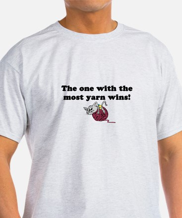 One With Most Yarn Wins T-Shirt