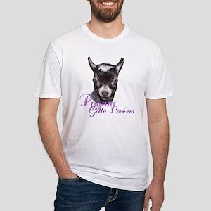 Pygmy Goat Gotta Love 'em Fitted T-Shirt