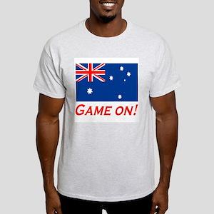 Australian Pride Game On Ash Grey T-Shirt
