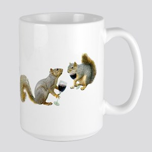 Squirrels Drinking Wine Large Mug