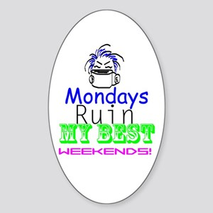 Blue Monday Oval Sticker