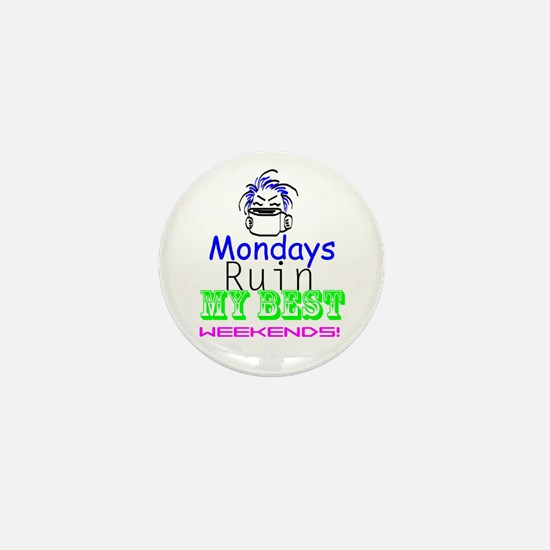 Blue Monday Mini Button