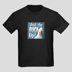 SHUT THE DUCK UP Kids Dark T-Shirt