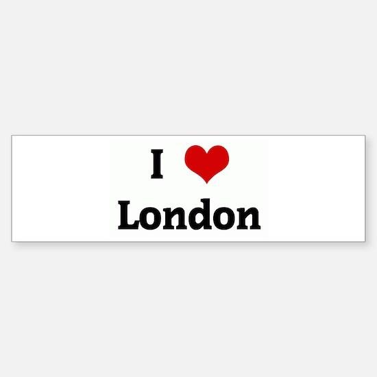 I Love London Bumper Bumper Bumper Sticker