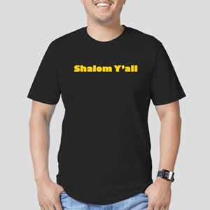 Shalom Y'all Men's Fitted T-Shirt (dark)