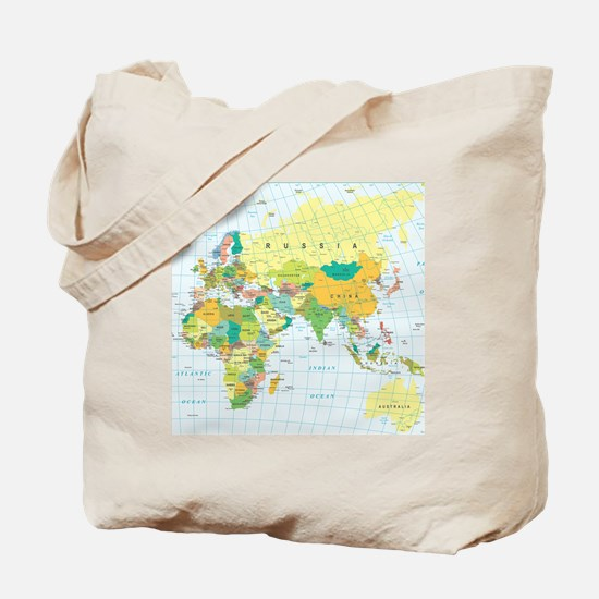 Cool Map of the world Tote Bag