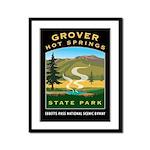 Grover Hot Springs Framed Panel Print