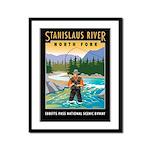 Fishing Framed Panel Print