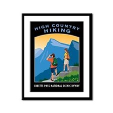 Hiking Framed Panel Print