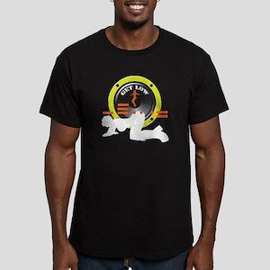 Just a friend Men's Fitted T-Shirt (dark)