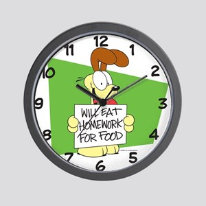 Odie Will Eat Homework Wall Clock