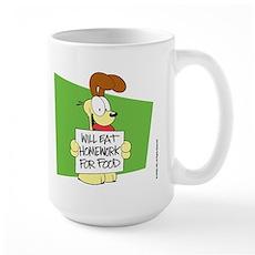 Odie Will Eat Homework Large Mug
