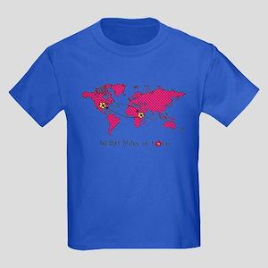 Miles of Love - Ethiopia Kids Dark T-Shirt