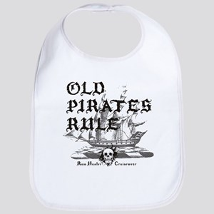 Old Pirates Rule Bib