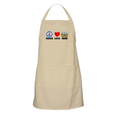 Peace Love Beer BBQ Apron