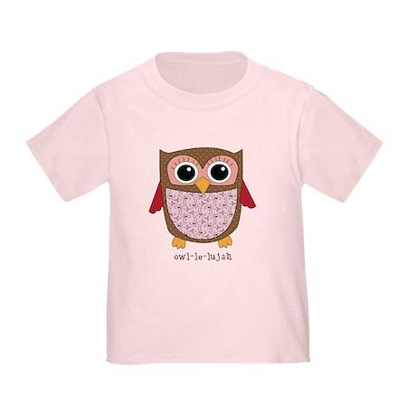 Retro Owl in pink Toddler T-Shirt