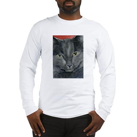 Russian Blue Cat Long Sleeve T-Shirt