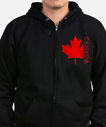 Candian Maple Leaf Zip Hoodie (dark)