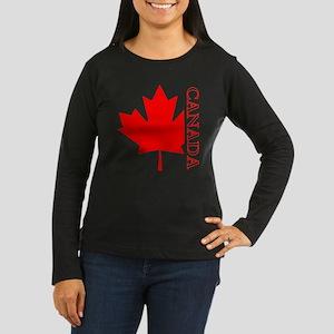 Candian Maple Leaf Women's Long Sleeve Dark T-Shir