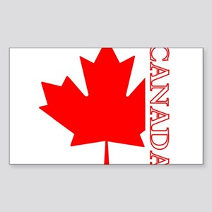 Candian Maple Leaf Rectangle Sticker