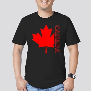 Candian Maple Leaf Men's Fitted T-Shirt (dark)