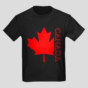 Candian Maple Leaf Kids Dark T-Shirt