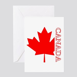 Candian Maple Leaf Greeting Card
