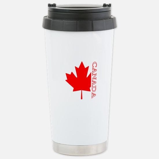 Candian Maple Leaf Stainless Steel Travel Mug