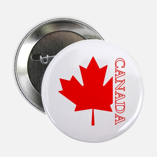 """Candian Maple Leaf 2.25"""" Button"""