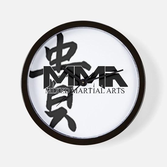 MMA Kanji Honor - Black Logo Wall Clock