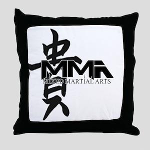 MMA Kanji Honor - Black Logo Throw Pillow