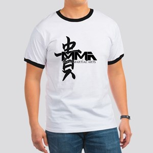 MMA Kanji Honor - Black Logo Ringer T