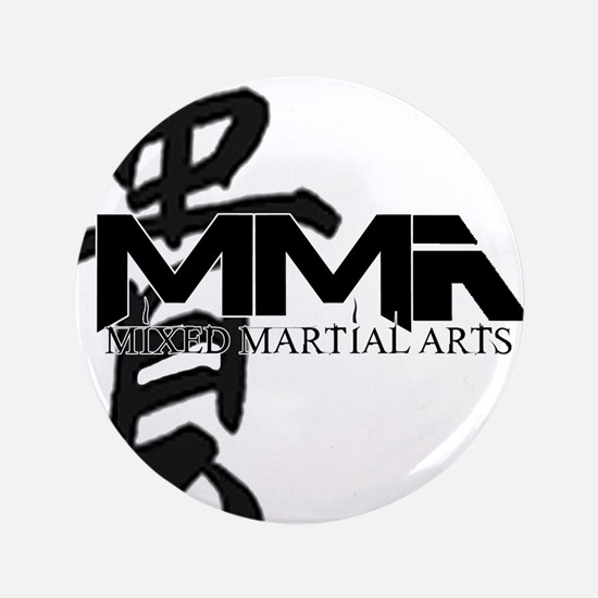 "MMA Kanji Honor - Black Logo 3.5"" Button"