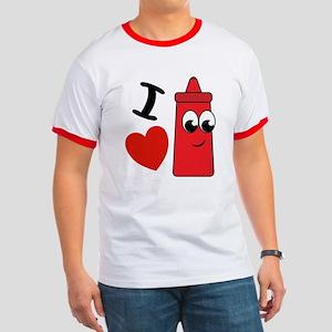 I Heart Ketchup Ringer T