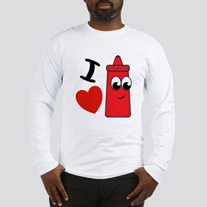 I Heart Ketchup Long Sleeve T-Shirt