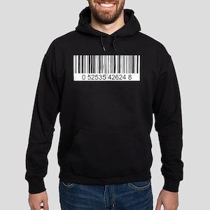 Barcode (large) Hoodie (dark)