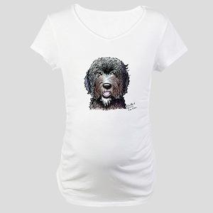 WB Black Doodle Maternity T-Shirt
