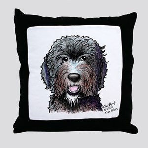 WB Black Doodle Throw Pillow