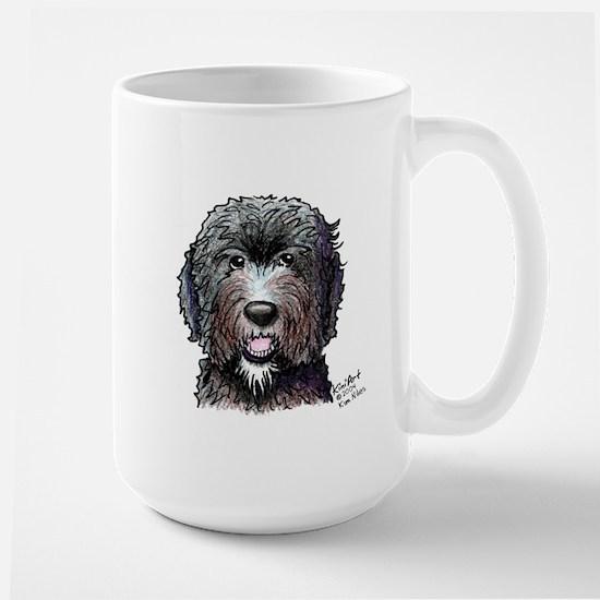 WB Black Doodle Large Mug