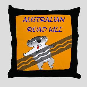 australian road kill (koala) Throw Pillow