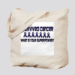 Blue Superpower Tote Bag