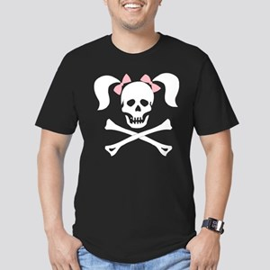 Girl Skull With Pink B Men's Fitted T-Shirt (dark)