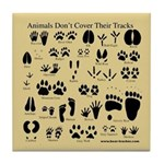 Animal Tracks Pawprints Tile Coaster