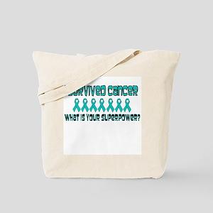 Teal Superpower Tote Bag