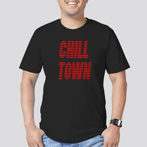 Chill Town (Red) Men's Fitted T-Shirt (dark)