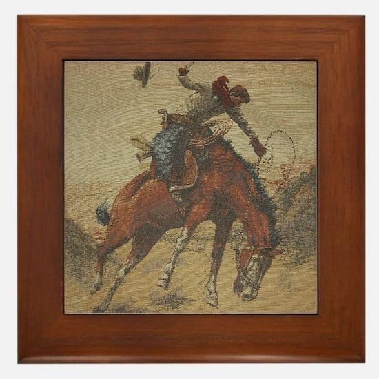 TGY Western Style Cowboy Framed Tile